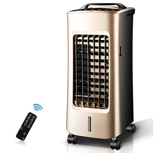 KEYUAN NFS-20JR Mobiles Klimagerät, 4-in-1- mit Luftkühler -, Heiz- und Lüfterfunktion, 3 Lüftergeschwindigkeiten im Ruhemodus, Fernbedienung und programmierbarem 12-Stunden-Timer, Gold