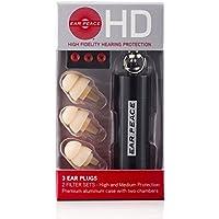 EarPeace HD Protezione Dell'Udito Alta Fedeltà 3 Tappi Orecchie /