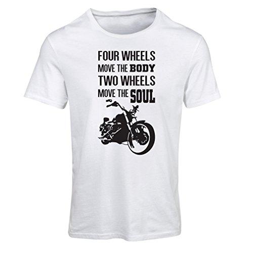 Frauen T-Shirt The bike t shirts (Medium Weiß Mehrfarben)
