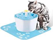 Mumoo Bear Cat Water Fountain, Flower Drinking Fountain Pet Water Dispenser