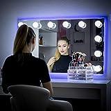 My Dari Light Hollywood Spiegel Theaterspiegel Spiegel mit glühbirnen schminkspiegel (Große Lampen 6,0cm)