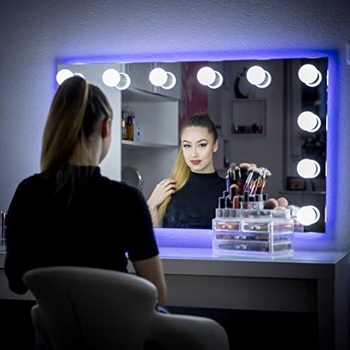 My Dari Light Hollywood Spiegel Theaterspiegel Spiegel mit glühbirnen schminkspiegel (Große Lampen...