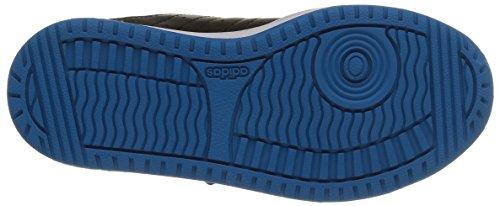 Adidas Hoops Vs Cmf C Scarpe per bambini, Unisex - bambino Core Black/Solar Blue2 S14/Ftwr White