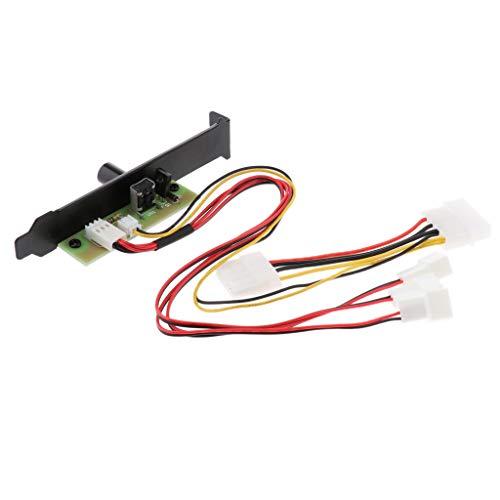 B Blesiya 1 Bis 3 Computer PCI Fan Speed Controller 4-poliger Stromanschluss 12V 20W (Desktop-fan 4-polig-computer)