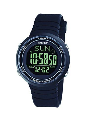 Pasnew-445G Reloj niña Mujer Reloj Deportivo Digital