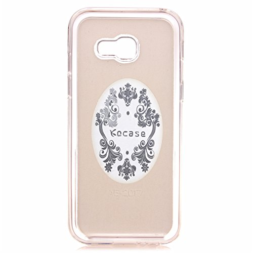 Paillette Coque Housse Etui pour Galaxy A3 2017, Galaxy A3 2017 Coque en Silicone Bling Housse Etui Gel Slim Case Soft Gel Cover, Ukayfe Or Rose Coque Etui de Protection Cas en caoutchouc en Ultra Sli Bling Or
