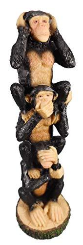 Affenturm 22 cm die 3 Affen Nichts hören sehen Sagen Afrika Tier Figur Deko COR 397