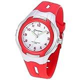 Kinderuhren Mädchen Jungen,Analoge Armbanduhr Wasserdichte Leicht zu Lesen Zeit Weicher Riemen Armbanduhren Geschenk für Kinder