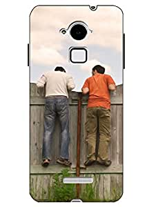 Case Cover Friendship Printed Green Hard Back Cover For CoolPad Note 3