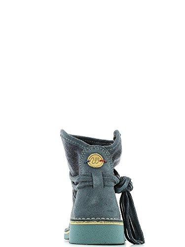 Wrangler Boots Indy Bottines pour femme en cuir Bottes Femme Bleu Taille 36-41Neuf Bleu - Bleu