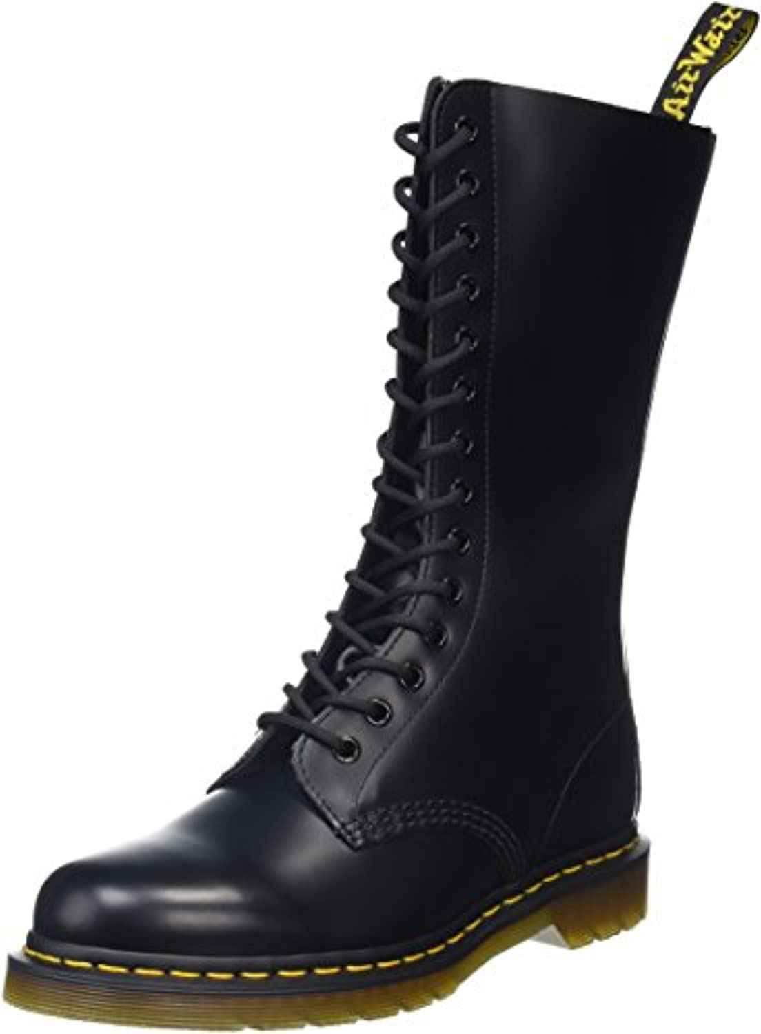 Dr. Martens 1914Z Smooth Black - Botas militares, Color Negro