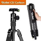 Rollei C5I | Schwarz | leichtes Foto-Stativ | Carbon| Reise-Stativ | Macro | Monopod | Arca Swiss