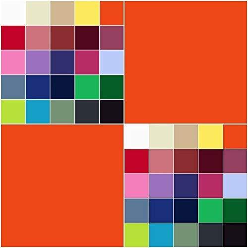 Baumwolle Gewebte Hose (Baumwollstoff UNI Meterware 155g/m² | Ökotex-Standard 100 dicht gewebt 29 Farben (orange, 100 x 150 cm))