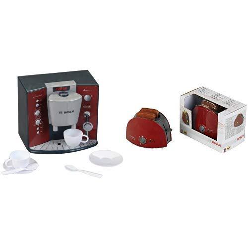 Theo Klein 9569 - BOSCH Kaffeemaschine mit Sound, Spielzeug &  Klein 9578 - Bosch Toaster, Spielzeug