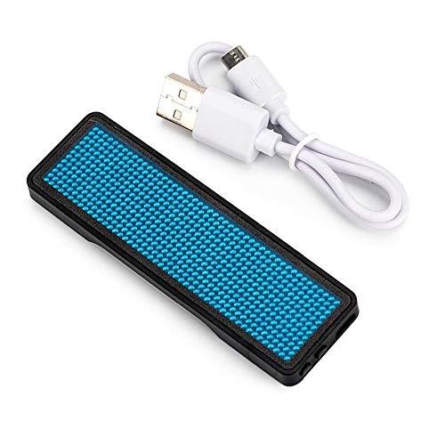 LED Namenschilder, 48x12 LED Namensschild LED Name Tag Nachrichtennamen Badge Digital Scroll Label Drahtlose Mobile APP Bluetooth Verbindung USB Wiederaufladbar