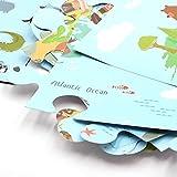 fancy-fix Magische klebefolie magnetische Landkarte| Selbstklebende pädagogische Weltkarte|Wandaufkleber Spielzeug für Kinder| Puzzle| Deko für Kinderzimmer wandbild: 53cm x 94cm