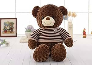 VERCART Jouet Enfant Grand Nounours Bourriquet 31 inches Géant Ours en Peluche Teddy Bear Marron 80CM