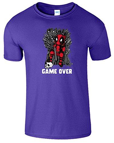 Deadpool Herren Thrones Parodie Spiel Zu Ende Kinder T-Shirt Kobalt