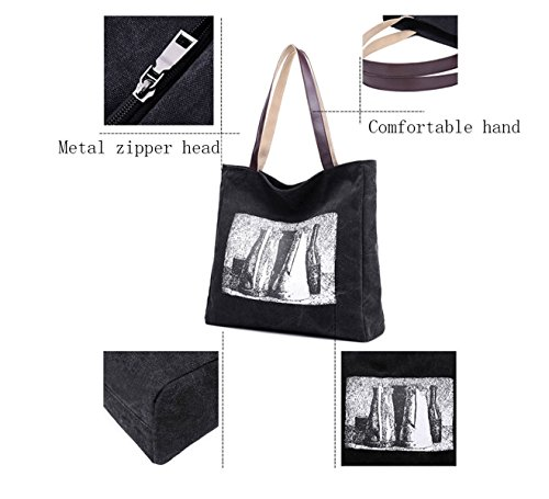 Frauen-Segeltuch-Schulter-Beutel-Art- Und Weiseeinfache Handtaschen-Kunst-große Kapazität Beiläufige Speicher-Beutel Coffee
