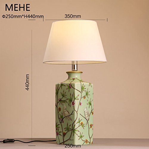 Global Moderne Chinesische Keramik Gemütliche Und Elegante  Neoklassizistische Tischlampe Schlafzimmer Nachttischlampen Dekoration Tuch  Kunst Tischlampe