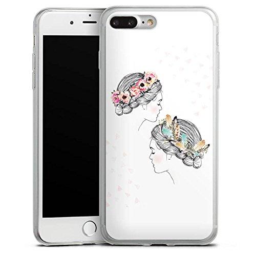 Apple iPhone 8 Plus Slim Case Silikon Hülle Schutzhülle Hippie Love Liebe Silikon Slim Case transparent