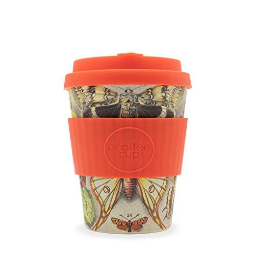 Ecoffee Cup Farfalle 340,2 gram/340 ML Motif Papillon | réutilisable en Bambou Tasse à café