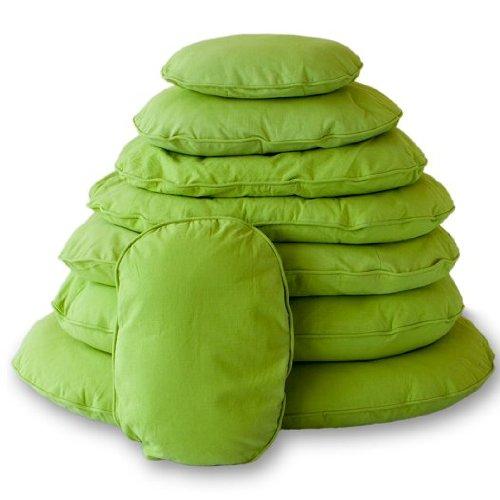Lex & Max PETFAB - Bezug TIVOLI für OVAL Hundekissen-Füllung - Größe: 80 cm, Farbe: Lime Green