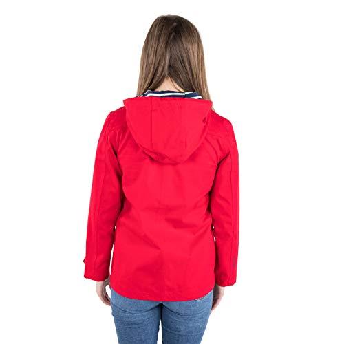 Trespass Seawater, Red, XXS, Wasserdichte Jacke für Damen, XX-Small / 2XS / 2X-Small, Rot - 2