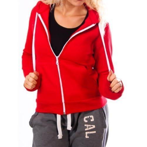 41iSpxKL51L. SS500  - Womens Ladies Plain Zipped Fleece Hoody Hoodie Sweatshirt Size S M L XL XXL