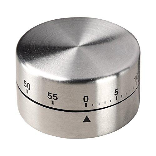elasto Küchenuhr Mechanisch Expert Kurzzeitmesser Küchen Timer Eieruhr aus Edelstahl mit Magnet Küchenwecker Küchenhelfer