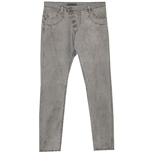 Please, P46M, Damen Jeans Hose, Stretchdenim, Grigio, L [21750]