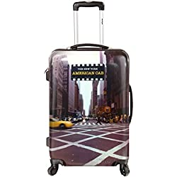 New-York Taxi - Valise Trolley Rigide 4 roulettes 56 cm - 15554R-51 - ABS/PC