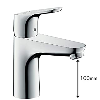hansgrohe Focus basin mixer tap 100 with pop up waste, chrome