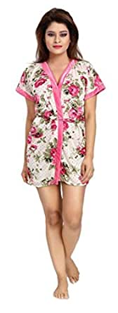 4223ad0189 Fabme Women s Kimino (NW060 Pink Free Size)  Amazon.in  Clothing ...