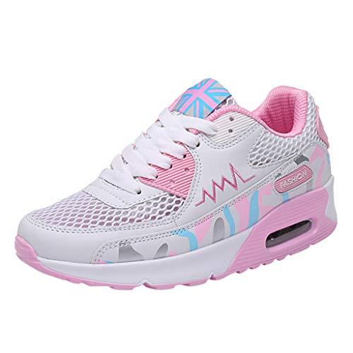 Trisee Damen Sneakers Outdoor Sportschuhe Socken Schuhe Air Rutschfeste Laufschuhe Atmungsaktive Schuhe Grau Rosa Blau Freizeitschuhe Schnürer Halbschuh -
