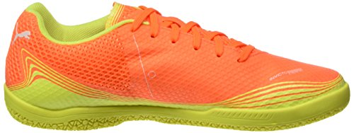 Puma Unisex-Erwachsene Invicto Fresh Fußballschuhe Orange (SHOCKING Orange-puma White-safety Yellow 07)