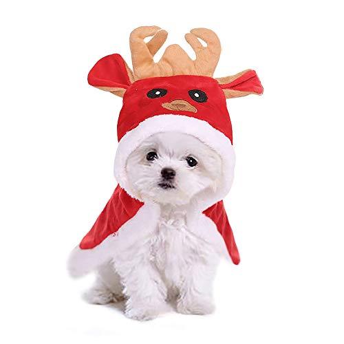 Hundejacke Hundepullover warm Wintermantel Elche Hirsch Design, Weihnachten Kleidung für Teddy Kleiner und mittlerer Hund (L) ()