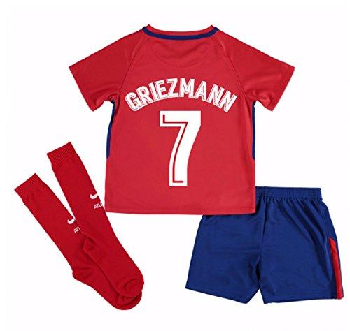 2017-2018 Atletico Madrid Home Mini Kit (Griezmann 7)