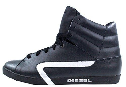 DIESEL - Baskets basses - Homme - Sneakers montantes Cuir Klubb Noires pour homme