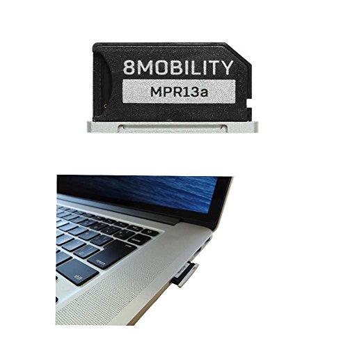 Adattatore di memoria MicroSD in alluminio per MacBook Pro Retina 13 pollici A1425 A1502 (da fine 2012 a inizio 2015) - Argento di 8Mobility