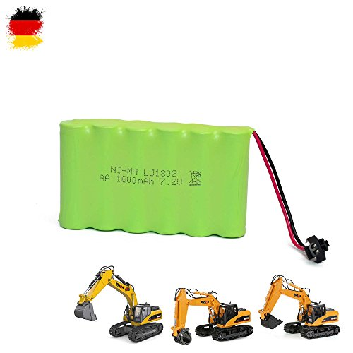 1800mAh 7.2V NIMH Akku mit 2-Poliger SM-Plug Anschluss mit schwarzem Stecker für RC Modelle