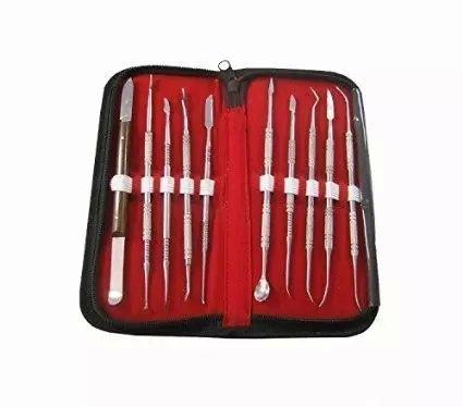 100% Neu Brand Set Chirurgischer Instrumente Kit Sonde Pinzette Meißel Lab Edelstahl Kit Wachs Carving Tools by dentallabore