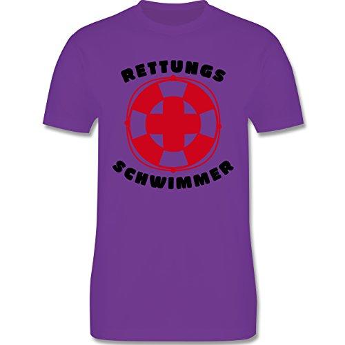 Wassersport - Rettungsschwimmer - Herren Premium T-Shirt Lila