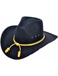 Sombrero negro de caballería,banda, fieltro de lana