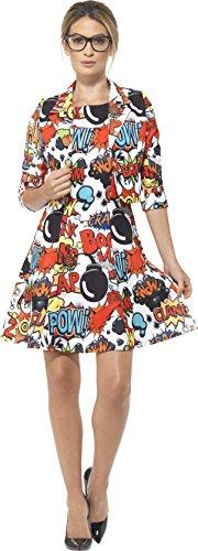 (Smiffys 45953L - Comic-Anzug mit Jacke und Kleid)