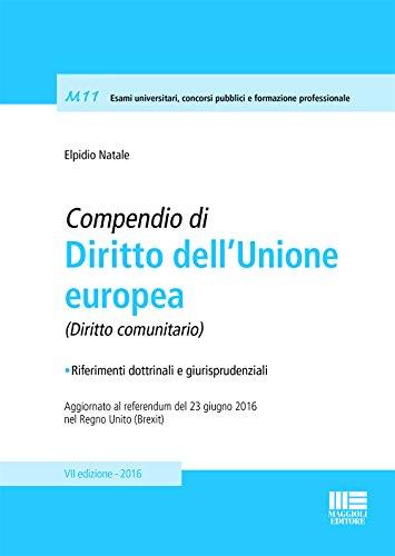 Compendio di diritto dell'unione Europea di Elpidio Natale
