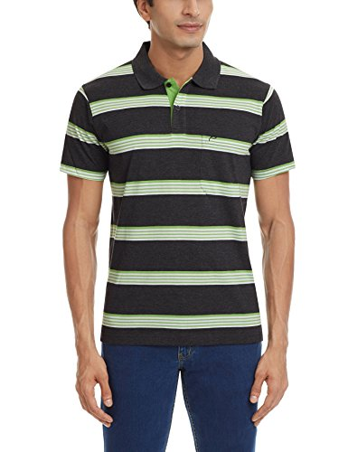 Proline Men's Polo (8907007242131_PC10056C_Large_Charcoal Marl)  available at amazon for Rs.339