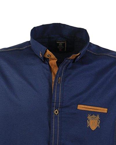 Übergrössen !!! Schickes Herrenhemd LAVECCHIA 1980 2 Farben Navyblue