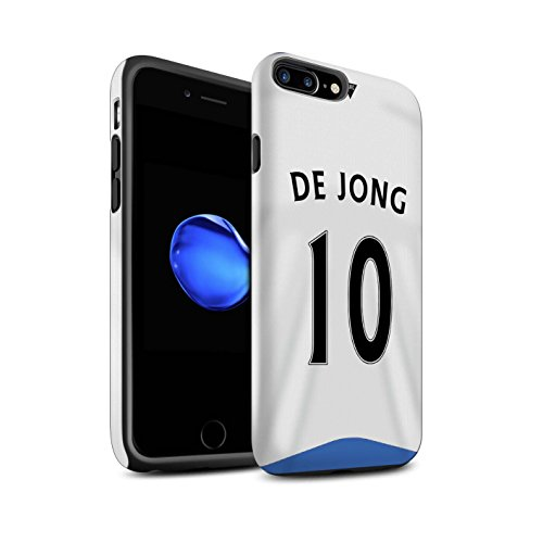 Offiziell Newcastle United FC Hülle / Matte Harten Stoßfest Case für Apple iPhone 7 Plus / Tioté Muster / NUFC Trikot Home 15/16 Kollektion De Jong