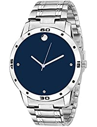 Swadesi Stuff Analog Blue Dial Metal Belt Stylish Watch - For Men & Boys 305